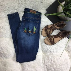 Embroidered jeans