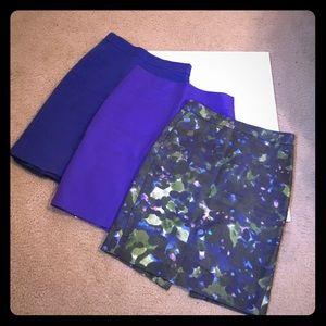 J Crew Pencil Skirt Bundle Sz 0