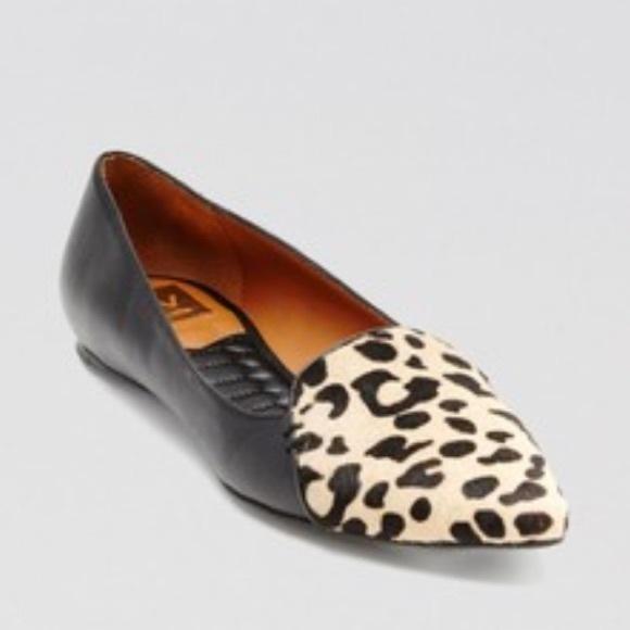 Dv Dolce Vita Pointed Toe Leopard Flats