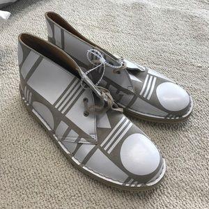 Patterned Clarks Desert Boots