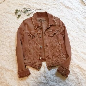 FREE PEOPLE Vintage Distressed Jean Jacket