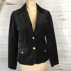 Old Navy Women's Black Velour Velvety Blazer