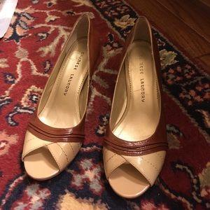 Tan peep toes