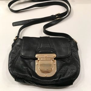 Michael Kors Black Shoulder Bag Purse w Gold Clasp