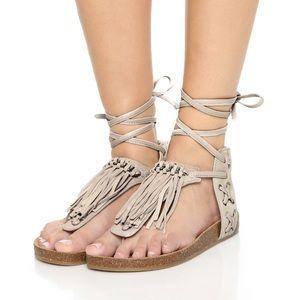Sam Edelman Kyra Greige lace up sandals