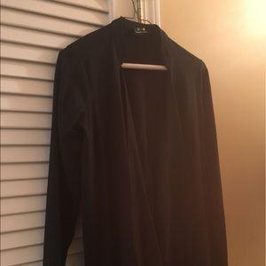 Double zero black women's long Cardigan