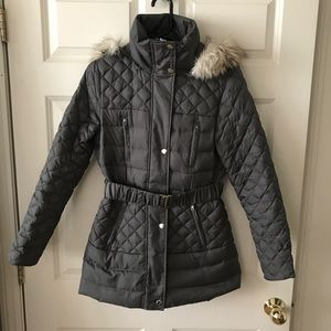 b2c1122026b1 Victoria's Secret Jackets & Coats - Quilted Puffer Jacket with Faux Fur Trim