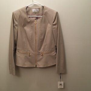 NWT Calvin Klein Women's Zip Up Blazer