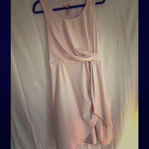 Catherine Mallandrino peach faux wrap dress