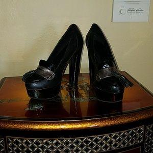 Black school girl heels