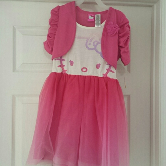 ebecb1087f Hello Kitty Other - Hello kitty tutu style dress with attached sweater