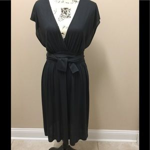 Stella McCartney black dress with long wrap belt