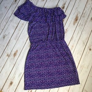 - Michael Kors - One shoulder ruffle top dress