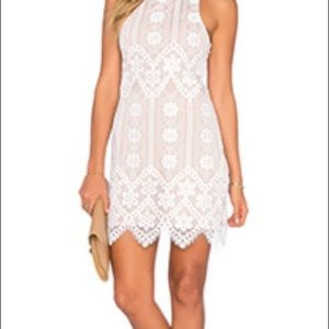 For Love and Lemons white lace halter dress