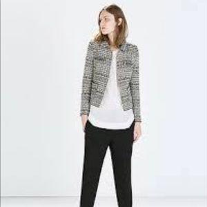 Zara short ripped jacket