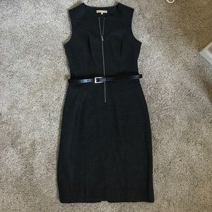 Size 6 Michael Kors Wool Belted Zipper Dress