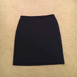 Merona Navy Blue Knit Pencil Skirt, Sz 8, EUC