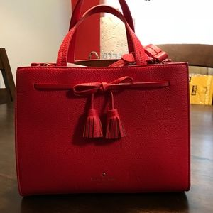 ***NWT**Red Kate Spade Hayes Street small Isobel