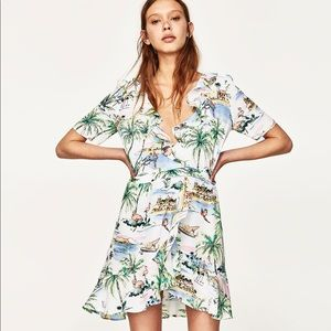 Zara Printed Wrap Dress