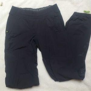Lululemon grey track pants  fleece lined size 4