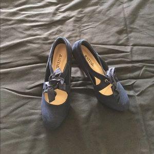 Navy blue 3 inch heels