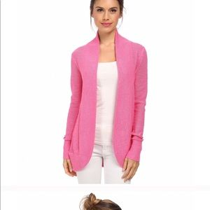 Lilly Pulitzer open cardigan flamingo pink
