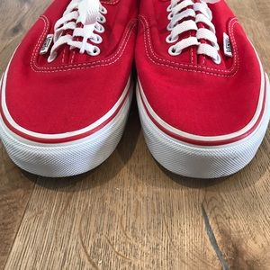 d0e5fc2853de65 Vans Shoes - Vans Off The Wall Authentic Core Classics Red