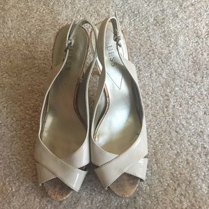 Guess nude strappy heels size 8.5
