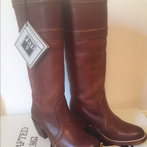 Frye Mustang Stitch Knee High Boot 5.5M