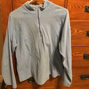 Lands End fleece 1/4 zip sweatshirt. Size Large