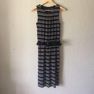 White House Black Market stripe jersey knit dress