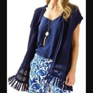 NWT Lilly Pulitzer navy blue sweater