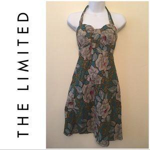 Beautiful Halter Sweetheart Floral Midi Dress