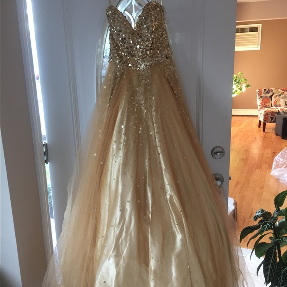 Gold Sweet 16 Dress