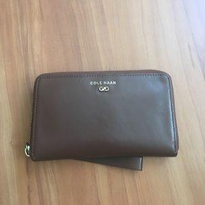 Cole Haan wristlet wallet