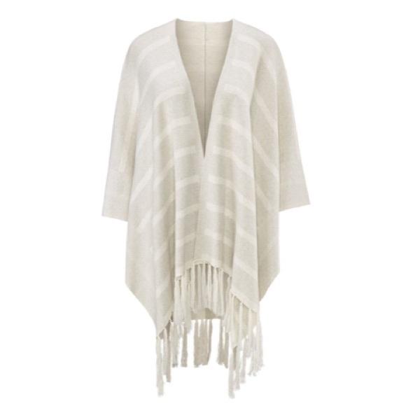 CAbi - Cabi Fringe Wrap Tassel Shawl Poncho Sweater from Frugal ...