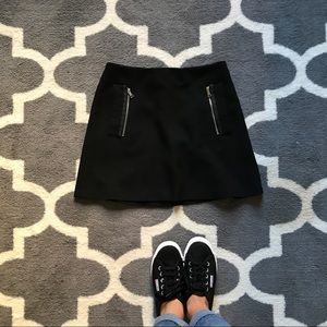 black zara mini a-line skirt