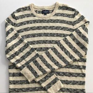 Men's American Eagle Striped Crewneck Sweater