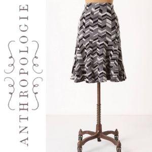 Anthropologie Moth Inlaid Sweater Skirt
