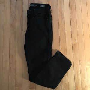 Level 99 Lily Crop Skinny Straight Jean (Black)