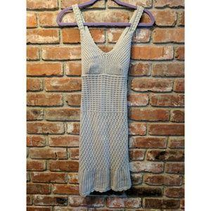 Gray Athleta Crocheted Dress