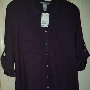 NWT Purple dress shirt