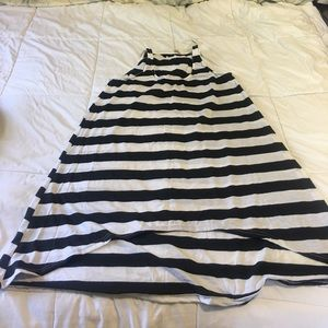 Other - Black and White Striped Beach cover up .