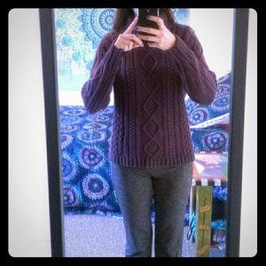 Eddie Bauer warm, thick turtleneck knit sweater
