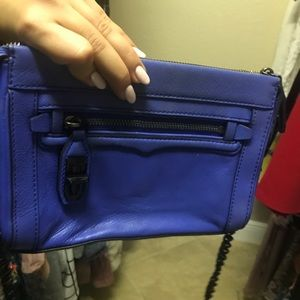 Rebecca Minkoff electric blue crossbody handbag