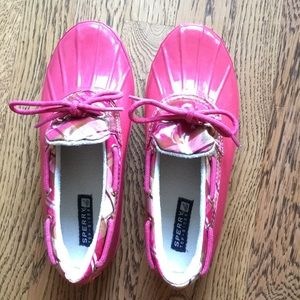 Sperry Top Sider Pink rain shoe
