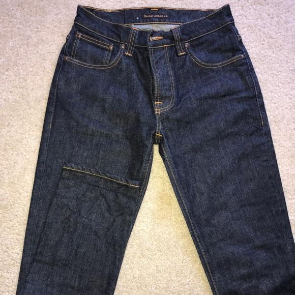 995dc293a4 Nudie Dark Blue Organic Cotton Denim. M 59c82ac82ba50a8c4b03d0f2