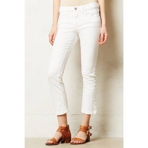 Anthropologie Pilcro Stet Cropped White Jeans