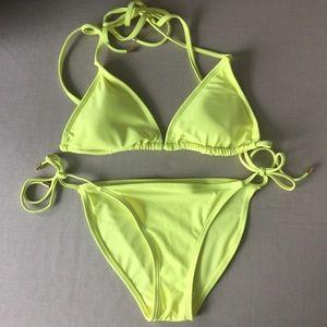 NWOT Neon Yellow Bikini