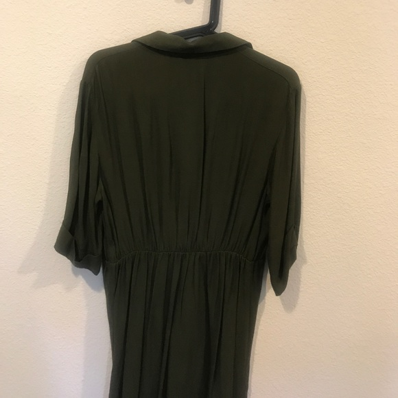 Topshop MATERNITY Dresses - TopShop green front wrap tie dress